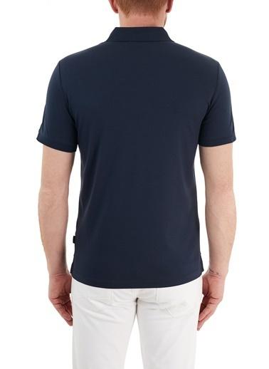 Calvin Klein  Slim Fit % 100 Pamuk Düğmeli  Polo T Shirt Erkek Polo K10K107090 Dw4 Lacivert